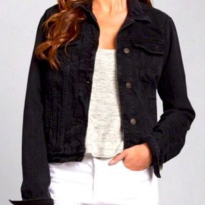Abercrombie & Fitch Black Jeans Jacket